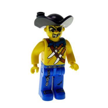 1 x Lego brick Minifigs 4 Juniors Pirates - Drake Dagger 7073 7074 7071 4j016