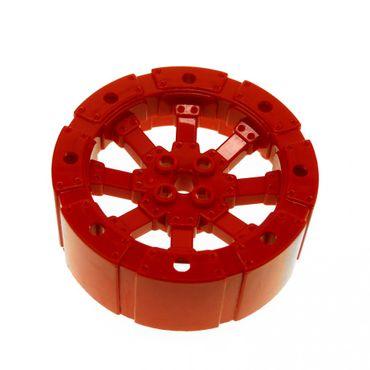 1 x Lego System Rad rot Wagenrad 55 mm D. Viking Ferrari Feuerwehr Turbinen Hovercraft Luftkissen Boot Turbojet 7944 8060 55817