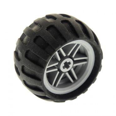 1 x Lego Technic Rad schwarz neu-hell grau 30.4mm D. x 20mm 43.2mm D. x 26mm Felge Ballon Reifen Räder Auto Fahrzeug 61481 56145c04