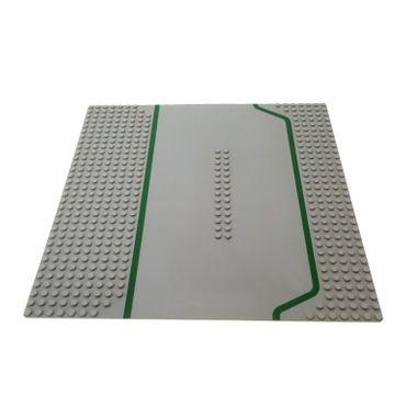 1 x Lego System Bau Basic Platte alt-hell grau 7N  32 x 32 Noppen 32x32 Strasse Tankstelle 9360 6378 309p01
