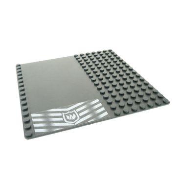 1 x Lego System Bau Basic Platte 16x16 neu-dunkel grau 16 x 16 Noppen Straße Feuerwehr für Set 7240 51595 30225pb05