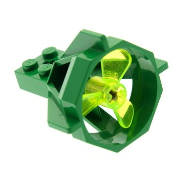 1 x Lego brick green Propeller Housing with trans-neon green Propeller 3 Blade 3 Diameter 6040 6041