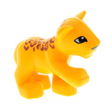 1 x Lego brick Bright Light Orange Duplo Leopard Cub Raised Paw (' Cheetah' in 4971 ) 4294935 54300cx2