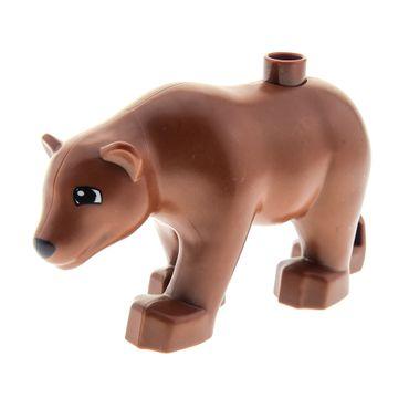 1 x Lego Duplo Bär reddish braun groß Tier New Style neue Form Zoo Zirkus Tierpark 5635 6157 9218 4536309 dupbearc01pb01 84696