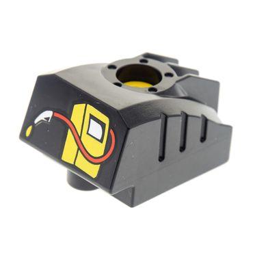 1 x Lego Duplo Toolo Black MyBot Engine Program Brick with Yellow Gas/Fuel Pump Pattern 2946 31429c01pb01