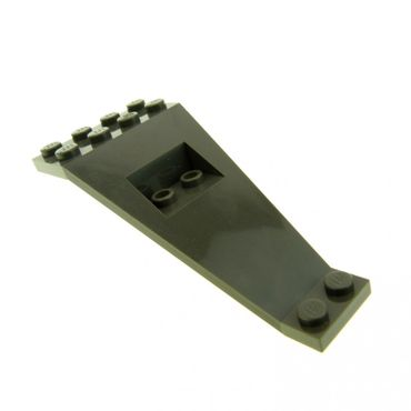 1 x Lego System Flügel Platte alt-dunkel grau 8 x 4 und 2 x 3 1/3 Winkel Panele Raumschiff Stütze 6969 30119