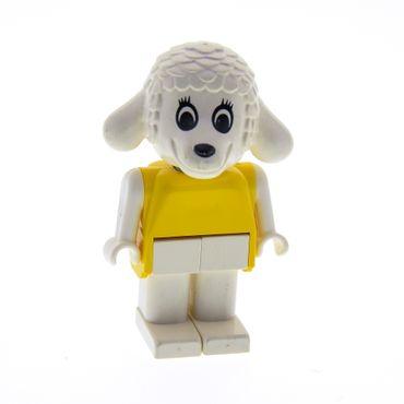 1 x Lego System Fabuland  Figur Tier Schaf Lamm 4 weiß Torso gelb Beine weiss Set 3683 3636 3663 selten fab7d
