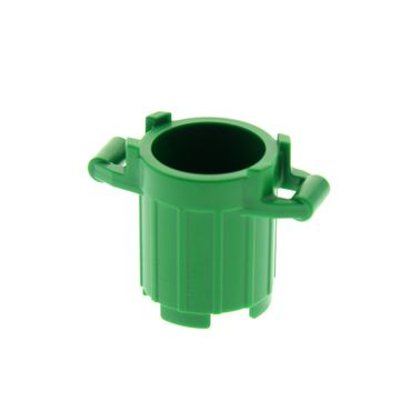 1 x Lego brick green Container small Trash Can with 4 Cover Holders 4645 92926