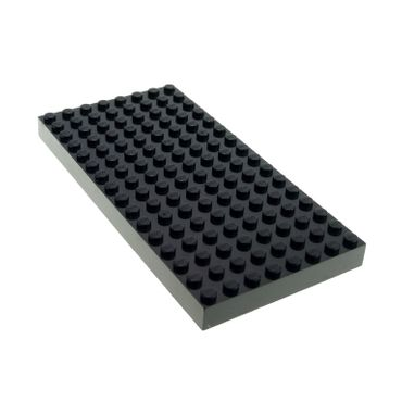 1 x Lego brick black plate 8 x 16 for Set Insectoids 6969 Harry Potter 4730 44041 4204