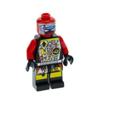 1 x Lego System Figur Droide Space Ufo Droid red Torso schwarz bedruckt UFO-Schaltkreise Hebel rot für Set  6836 6901 6902 6915 6979 sp044