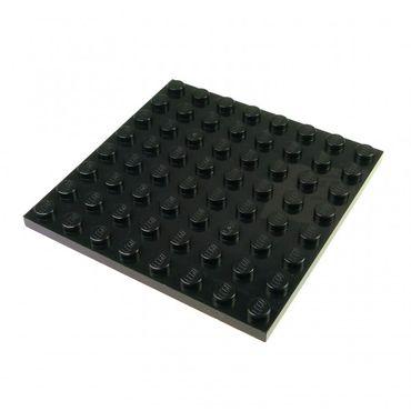 1 x Lego System Bau Platte 8x8 schwarz 8 x 8 Star Wars 10182 10018 8142 10186 8758 79008 4166619 41539