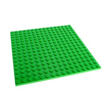 1 x Lego System Bau Basic Platte bright hell grün 16x16 Noppen beidseitig bespielbar 16 x 16 für Set Minecraft 21114 5771 4611777 91405