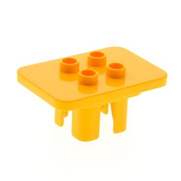 1 x Lego brick Bright Light Orange Duplo Furniture Table Square with 4 Top Studs 6479