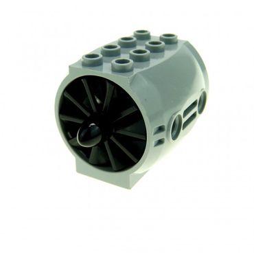 1 x Lego brick Light Gray Engine Large Aircraft Black Engine Large Center 10 Blades 43121 x577 4171112 43121c02