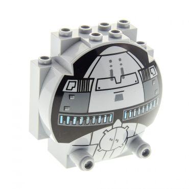 1 x Lego System Cockpit neu-hell grau 3 x 6 x 5 halb Kugel Star Wars Kanzel Kuppel Fenster 7663 30366pb01