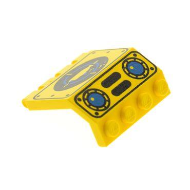 1 x Lego System Tür gelb 2x4x3 1/3 U-Boot Klappe bedruckt Unter Wasser Welt Taucher Boot Visier Aquazone Submarine 6175 6195 1822 2582px2