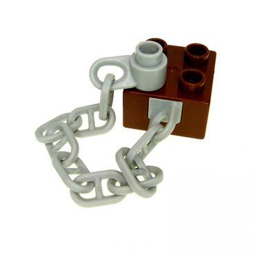 1 x Lego Duplo Anker Kette reddish braun neu-hell grau Stein 2 x 2 Boot Schiff Piratenschiff Ersatzteil 7881 7880 54980c01