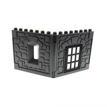 1 x Lego brick Dark Bluish Gray Duplo Building Wall 1 x 8 x 8 with Window Opening - Castle Dark Bluish Gray Duplo Building Wall 1 x 8 x 8 with Door Opening 31171 51695 51697