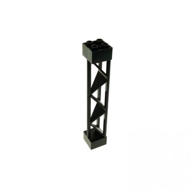 1 x Lego brick black Support 2 x 2 x 10 Girder Triangular Vertical - Type 1 - Solid Top 3 Posts 4142861 30517