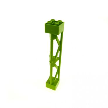 1 x Lego brick lime Support 2 x 2 x 10 Girder Triangular Vertical - Type 3 - 3 Posts, 2 Sections 58827