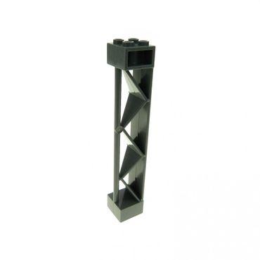 1 x Lego brick dark bluish gray Support 2 x 2 x 10 Girder Triangular Vertical - Type 2 - Open Side Top 1 Post & 1 Panel 4289616 57893