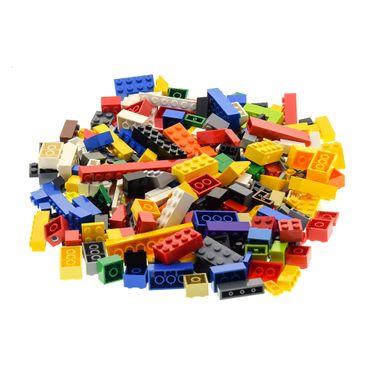200 Lego System Basic Bau Steine Teile Kiloware bunt gemischt z.B. rot gelb blau grün weiß orange schwarz grau – Bild 1