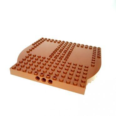1 x Lego System Boot Rumpf Heck Deck reddish rot braun 16x16 Piraten Schiff 7075 4222072 48000