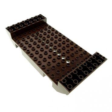 1 x Lego System Boot Rumpf dunkel braun 8x16x2 1/3 mit 9 Löchern Piraten Wikinger Schiff Mittelstück 10210 7048 4518613 2560