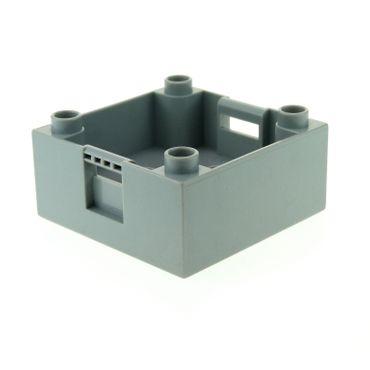 1 x Lego Duplo Kiste neu-hell grau 4 x 4 4x4 Kiste Container Box Aufsatz Unterteil 5544 3352 4988 7840 47423