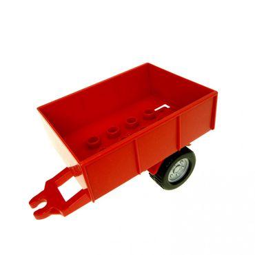 1 x Lego Duplo Anhänger rot Fahrgestell Kipp Aufsatz Ladefläche Traktor Auto Bauernhof 47450c01 47448