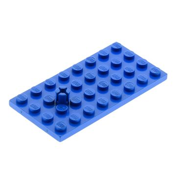 1 x Lego brick Blue Plate Modified 4 x 8 with Helicopter Rotor Holder 967