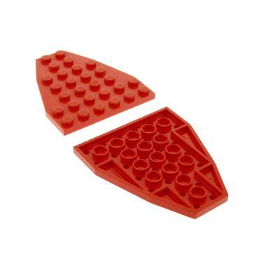 2 x Lego System Keil Flügel Bau Platte 6x7 rot 6 x 7 Boot 7 x 6  Bug Schiff 1194 6679 6338 6542 6557 2625
