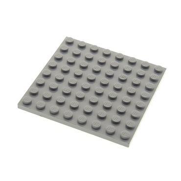 1 x Lego System Bau Platte 8x8 neu-hell grau 8 x 8 Star Wars Harry Potter 7671 10188 10179 4756 70014 42534 41539