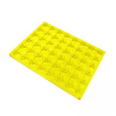 1 x Lego System Bau Platte transparent gelb 6x8 6927 483 920 6970 493 3036