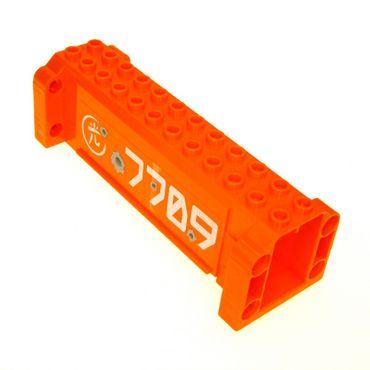 1 x Lego System Kran Ausleger orange 4 x 12 x 3 Stütze mit 7709 Aufkleber Säule Träger Crane Exo-Force 52041pb004