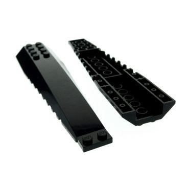 2 x Lego System Keil Flügel Platte schwarz 16x4 schräg Stein Exo - Force Star Wars Batman 4403 75018 7784 4200486 45301