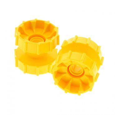 2 x Lego Technic Ketten Antriebsrad gelb Führungsrad Kettenräder Raupe Tread Hub Rad 7243 8419 4248957 32007