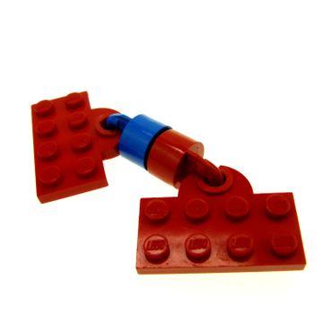 1 x Lego System Zug Kupplung rot blau 2x4 Platte Magnet lang 8mm Zylinder Lok Zug Eisenbahn x547a 160ac01 160ac02