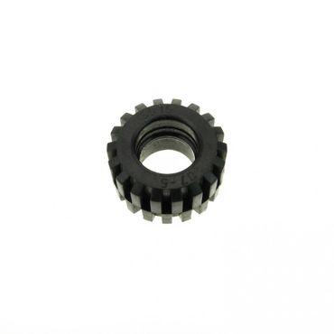 4 x Lego System Rad Reifen schwarz solo Trike Motorrad Technic Räder 6015