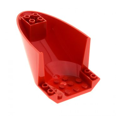 1 x Lego brick red Aircraft Fuselage Curved Aft Section 6 x 10 Bottom 87616