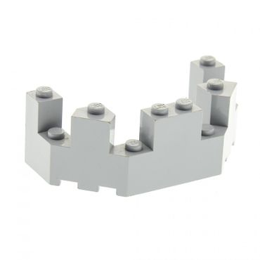 1 x Lego brick Light bluish Gray Castle Turret Top 4 x 8 x 2 1/3 6066