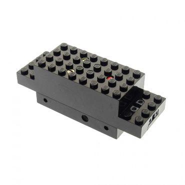 1 x Lego Electric Motor 4.5V Type III schwarz 12 x 4 x 3 1/3 Eisenbahn Zug Lok Train Kontakte offen Motor geprüft x469bopen