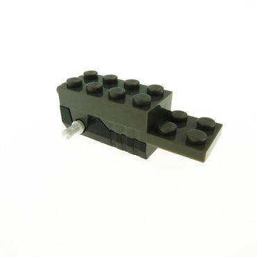 1 x Lego System Rückzieh Motor schwarz alt-dunkel grau 6 x 2 x 1 2/3 Aufziehmotor Pullback Racers 41861c01
