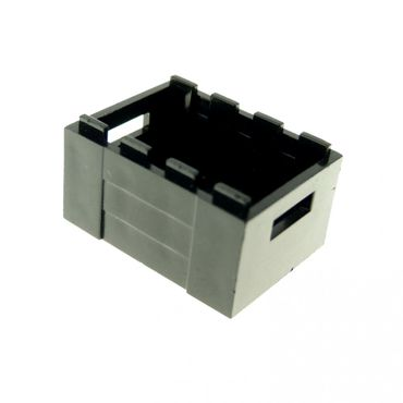 1 x Lego brick Black Container Crate with Handholds 4144531 30150