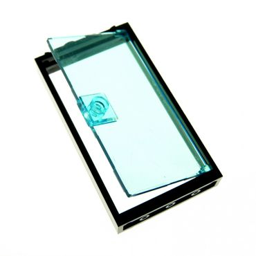 1 x Lego brick black Door Frame 1 x 4 x 6 Type 2 Trans-Light Blue Door 1 x 4 x 6 with Stud Handle 4535834 60616 60596