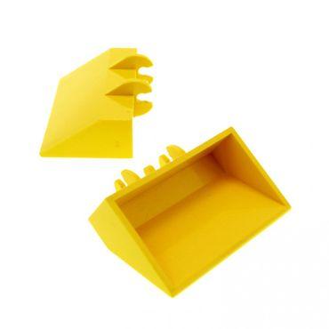2 x Lego System Bagger Schaufel gelb 2 x 4 x 1 Fahrzeug Auto  692 649 5126 784