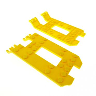 2 x Lego System Laderampe gelb 6 x 12 x 1 1/33 Chassis Unterbau Fahrgestell Trailer Grund Platte Trailer Base 30263