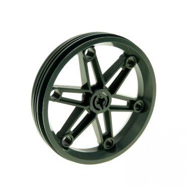 1 x Lego brick Dark Bluish Gray Wheel 61.6mm D. x 13.6mm Motorcycle Set 8098 4580588 2903