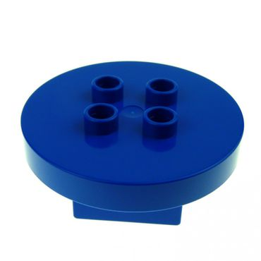 1 x Lego brick blue Duplo Furniture Table Round 4 x 4 x 1.5 31066