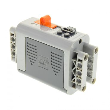1 x Lego Electric Batteriekasten neu-hell grau 4 x 11 x 7 4x11x7 Schalter orange 9V Power Functions Batterie Box Technic geprüft 8881 59510c01